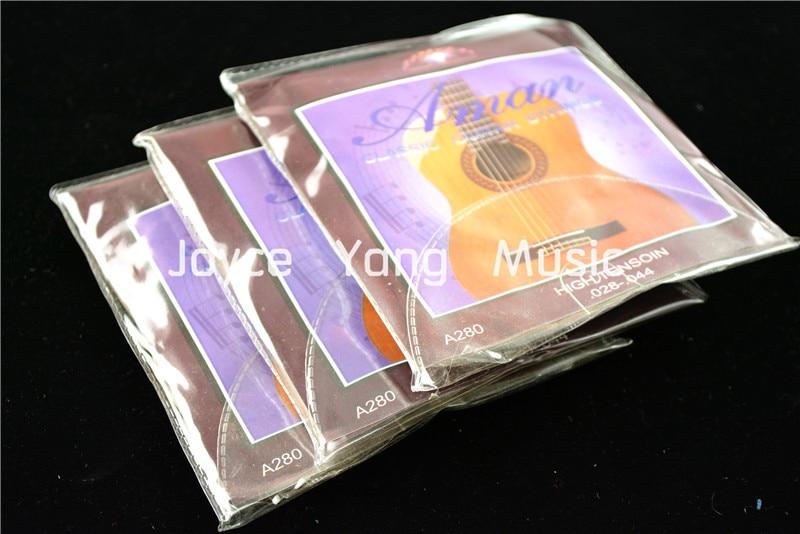3 conjuntos de aman a280 claro náilon guitarra clássica cordas 1st-6th 028-044 hign tensão cordas frete grátis por atacado