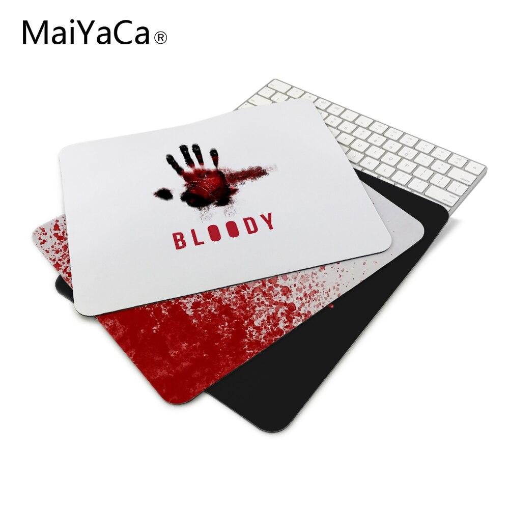 Anti-deslizamento mouse diy design bloody gamer computador grande jogo portátil vermelho mouse pad tinta preta borracha mouse pad