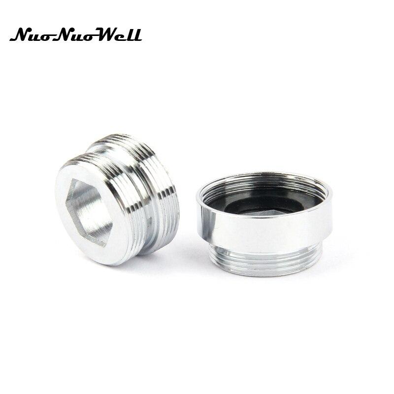 1pc NuoNuoWell de acero inoxidable M22-M24 Conector de rosca para grifo accesorios Tap adaptador Bubbler partes de agua accesorio purificador