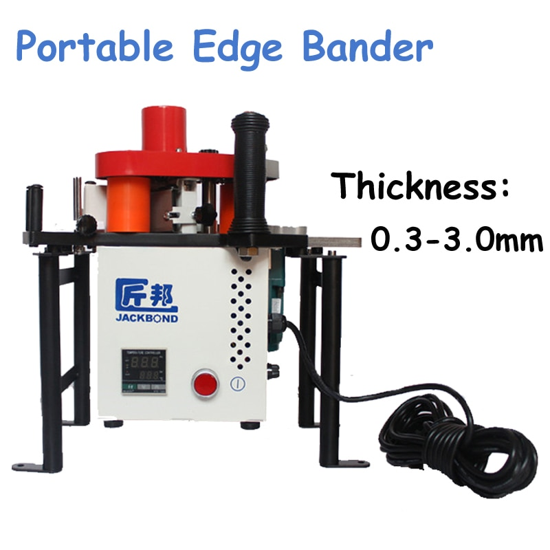 Straight or Curved Line Portable Edge Bander 110V/220V Adhesive Edge Banding Machine Woodworking Machinery JBD80