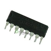 10pieces. CD4017 CD4017B CD4017BE 4017 decade counter divider IC