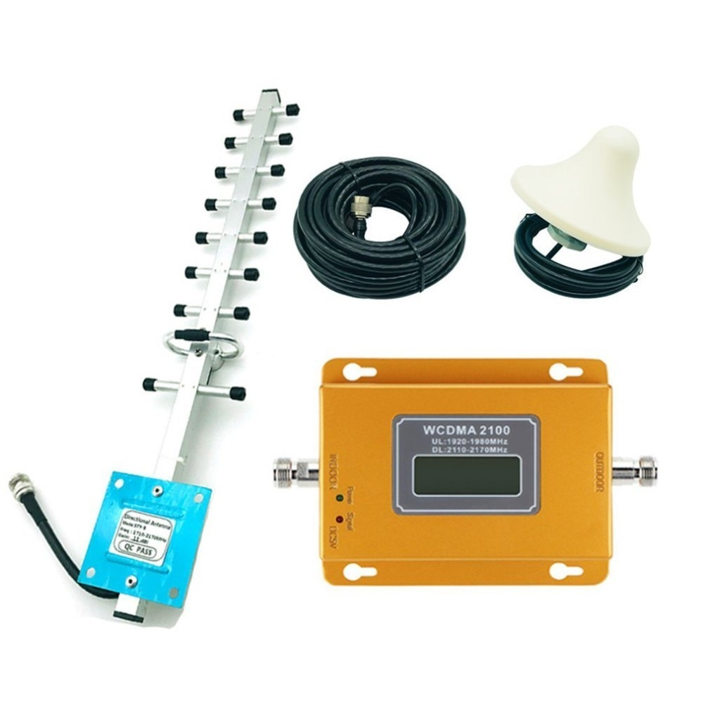 Cdma 3g 4g 2100 mhz lcd 3g sinal do telefone móvel repetidor amplificador repetidor de sinal do telefone móvel