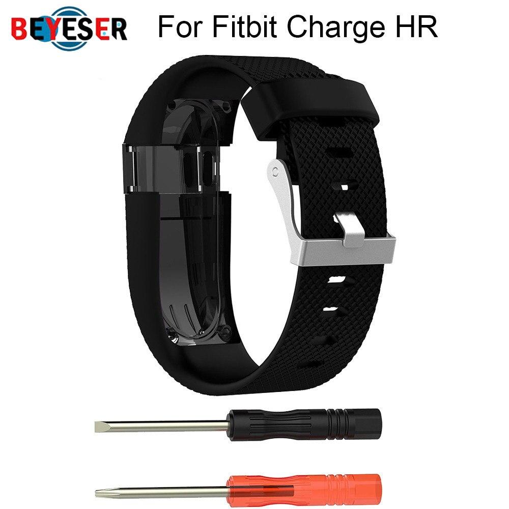 Para Fitbit Charge HR reemplazo de reloj correa de silicona correa de reloj para Fitbit Charge HR actividad rastreador hebilla de Metal muñequera