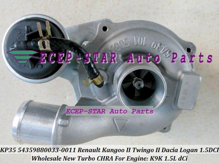 KP35 54359880011 54359880033 Turbo 8200507852 Tubrine turbocompresor para Renault Kangoo II Twingo II Dacia Logan 04-K9K 1.5L dCi