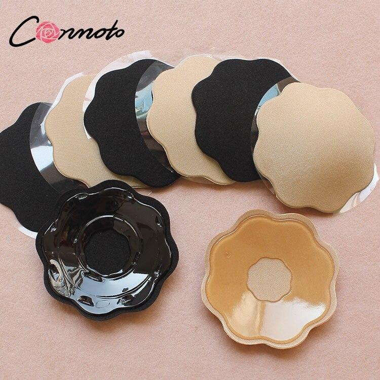 Conmoto Für Party Kleid Self Adhesive Breast Petals Silikon Invisible Abdeckung Bh Pad Liebsten Stick Gel Brust Blütenblätter
