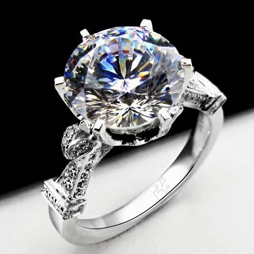 Anillo de compromiso Vintage de 2 quilates auténtico Moissantie, probadores de paso, anillo de oro blanco sólido de lujo de 18K para mujer, anillo de boda