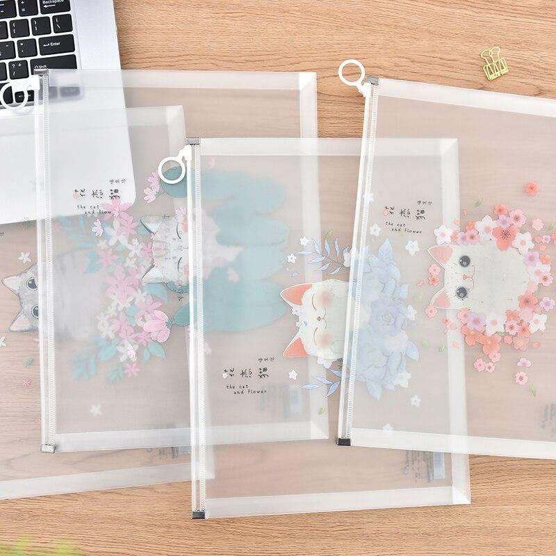 Простая пластиковая прозрачная сумка на молнии для документов, сумка для деловых документов, Сумка для документов, Сумка для документов для...