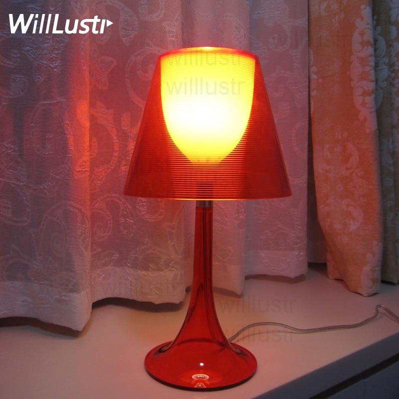 Lámpara de mesa moderna copa de vino sala de estar dormitorio Hotel Oficina sofá mesita de noche rojo transparente negro amarillo escritorio luces de lectura