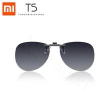 Xiaomi Mijia TS pince pilote lunettes de soleil TAC lentille 135 degrés upturn en alliage de Zinc pince Anti UVA protection yeux pilote lunettes de nuit