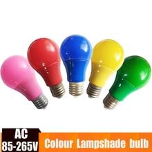 E27 Colorful Globe Light Bulb Led Bar Light 5W 7W 9W Red Blue Green Yellow Pink Lampara Led Bombillas For Bar KTV Party Lighting