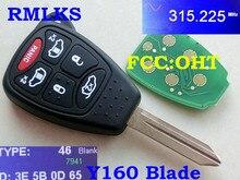 Reemplazo RMLKS sin llave de control remoto Fob 6 botón PCF7941 Chip de 315MHz a 433MHz para Chrysler para DODGE Grand Caravan FCC out M3N