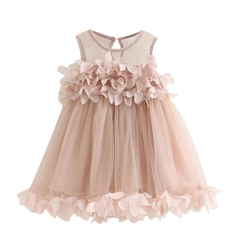 2018 New Arrival Hot Sale Girls Dress Baby Girls Princess Dress Pageant Sleeveless Print wedding Dresses vestido de festa longoT