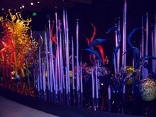 Décoration en verre de Murano pour jardin Art décoration Sculpture en verre violet