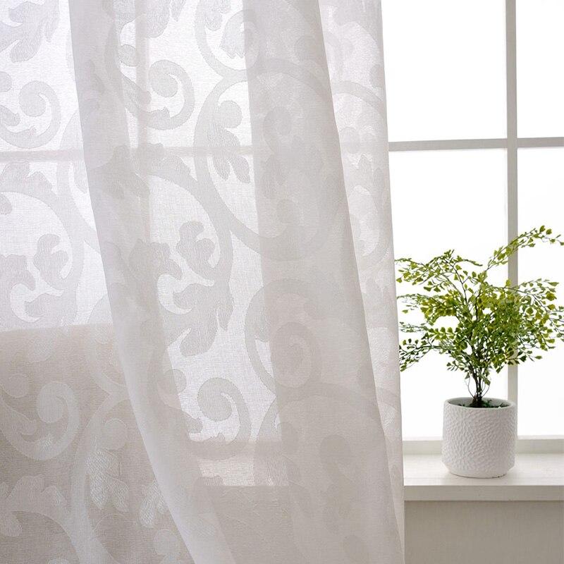 Купить с кэшбэком Luxury Curtains For Living Room Grey Drapes Bedroom Jacquard Blinds Fabric European Window Treatments High Shading 80% Panels