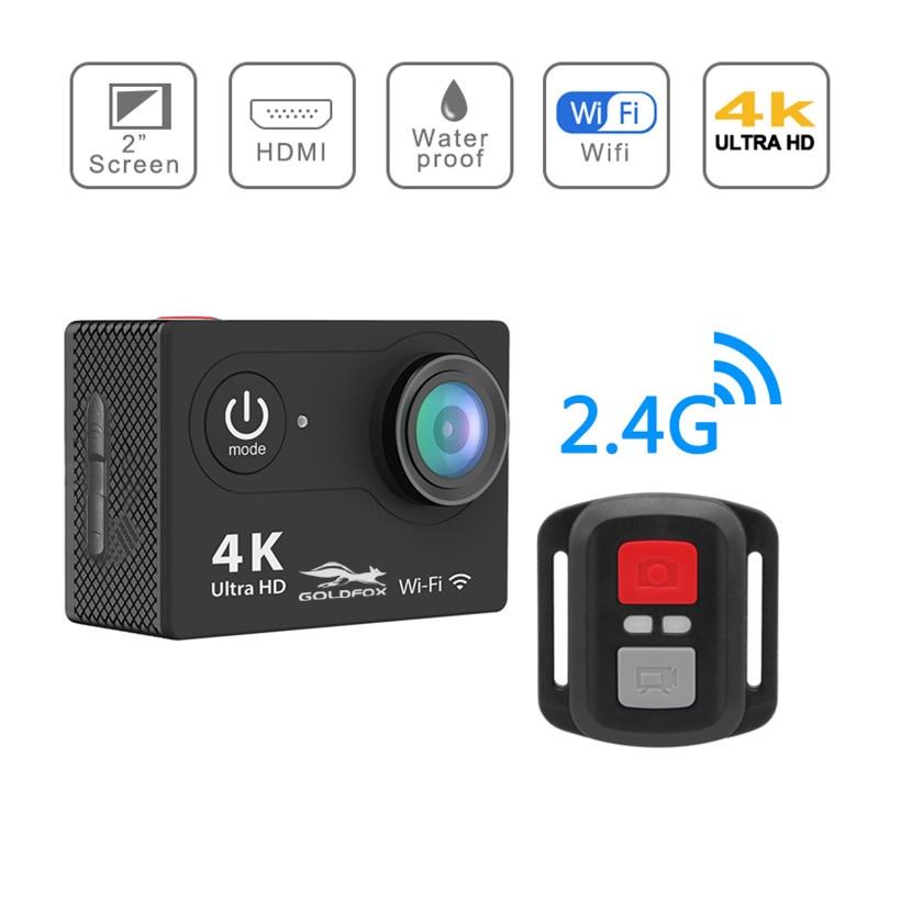 """H9R spor eylem kamera Ultra HD 4K WiFi 2.0 """"ekran su geçirmez kask Video kayıt kameraları spor DV kamera uzaktan kumanda ile"""
