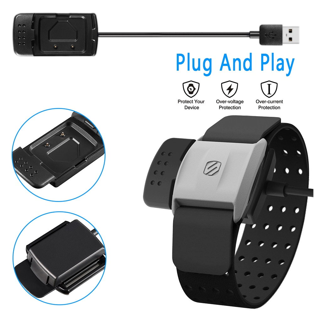 Puerto de carga USB, Monitor de ritmo cardíaco, pulsera de Fitness inteligente, pulsera, accesorios de reemplazo, estación para scoche Rhythm +