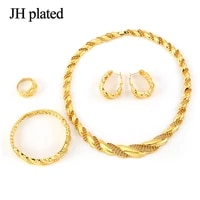 jhplated arab jewelry sets gold color necklace bracelet earrings ring africa setsmiddle eastern