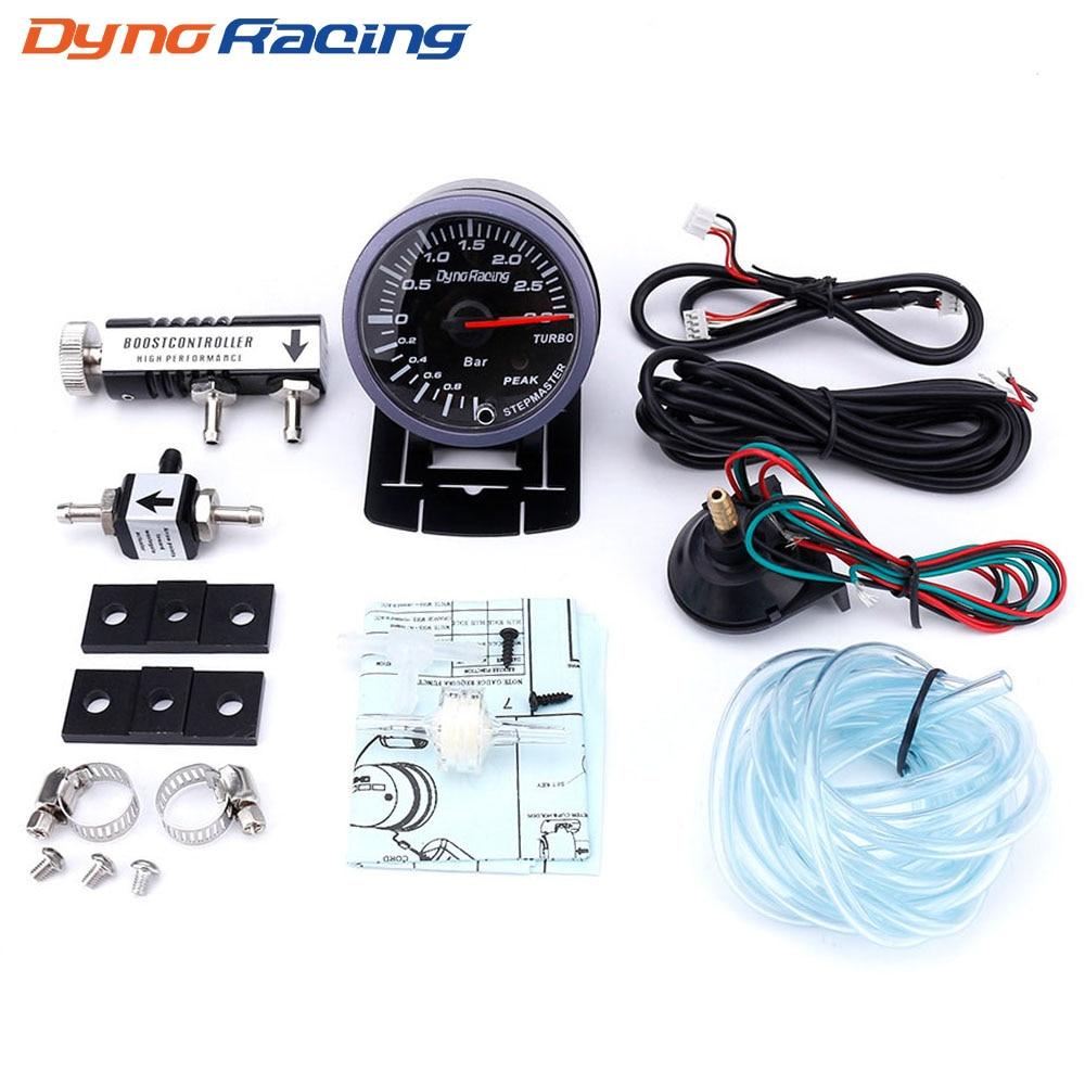 Dynoracing 60 مللي متر سيارة توربو دفعة مقياس 3Bar + تعديل توربو دفعة مجموعة التحكم 1-30PSI في المقصورة سيارة متر