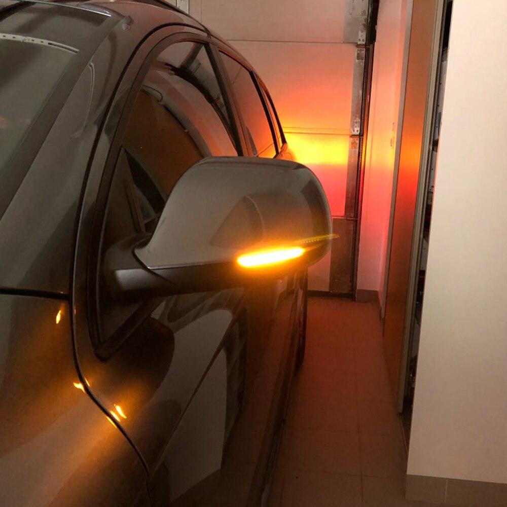 Para Audi Q5 SQ5 8R 2010-2017 Q7 Facelift 2010-2015 señal de giro dinámica LED Retrovisor lateral indicador intermitente Luz de repetición