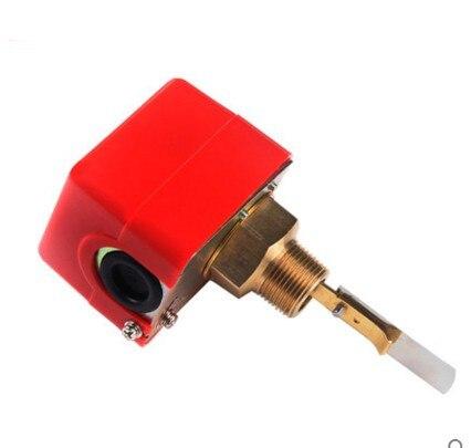"1/2 ""DN15 220VAC 3A sensores de flujo de agua/paleta rosca macho paleta de flujo bomba de agua interruptor de flujo HFS-15"
