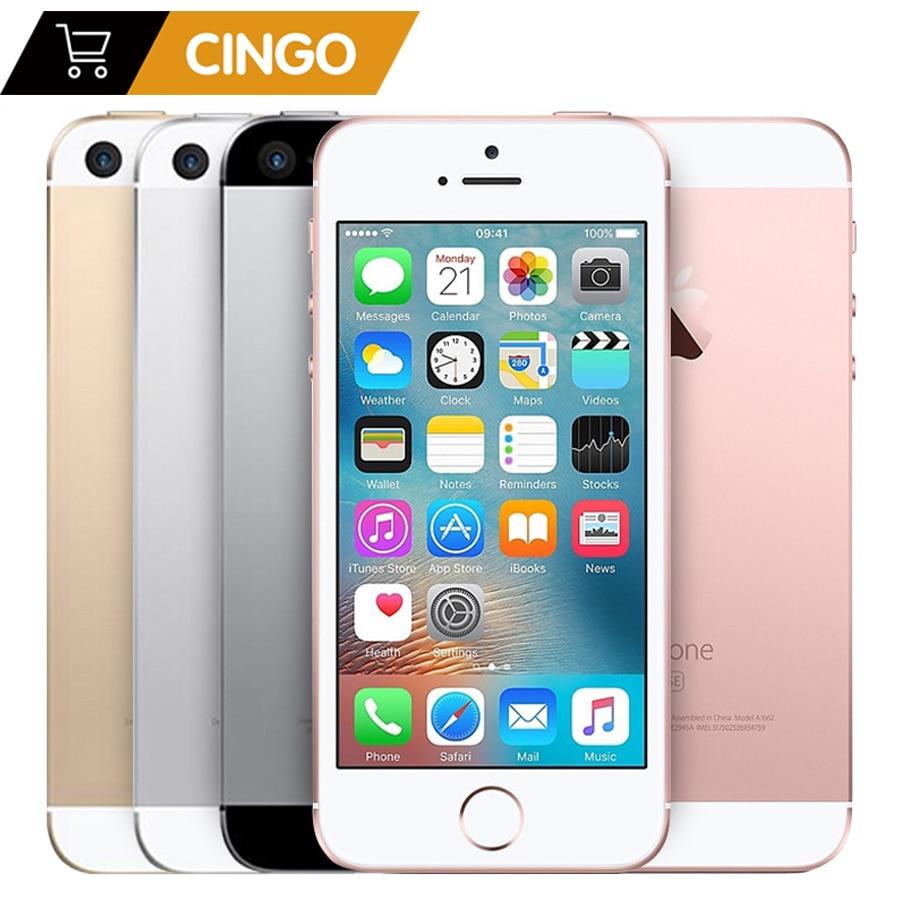 IPhone SE – téléphone portable 2 go de RAM 16 go/32 go/64 go/128 go de ROM, écran de 4.0 pouces, déverrouillage par empreinte digitale, Apple a1723 A1662 A9 Dual core