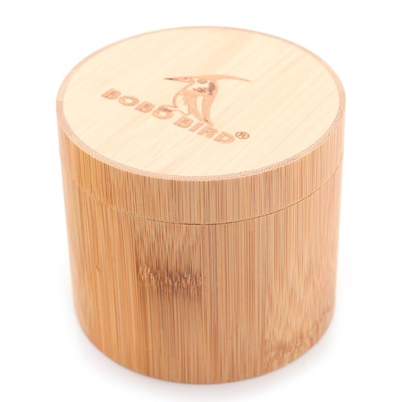 BOBO BIRD caja redonda de bambú para reloj de pulsera/cajas de joyería envío directo al por mayor