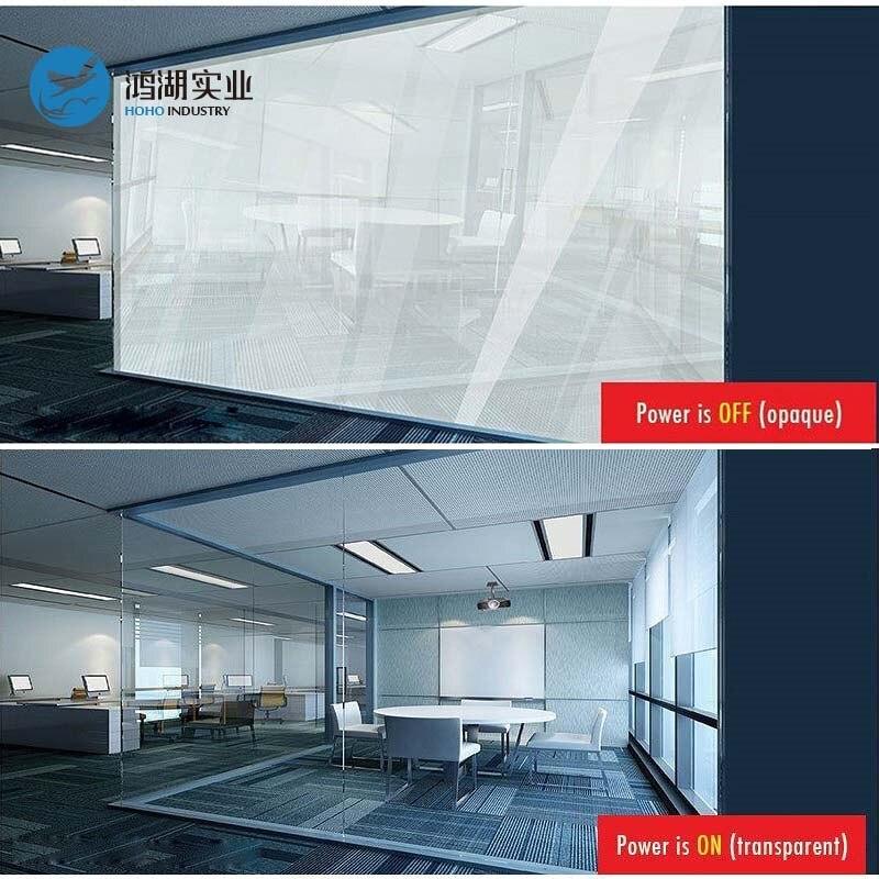 Película autoadhesiva Electrici blanca de 140x140cm PDLC, lámina con tinte inteligente intercambiable, vinilo con tinte de Ventanilla de cristal para la práctica en la oficina o el hogar