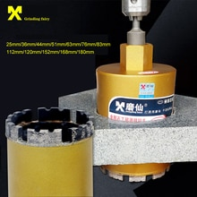 Sierra de agujero Brocas de diamante de 25-180mm M22 para perforación en agua húmeda perforadora de hormigón Taladro de núcleo para mampostería perforación en seco