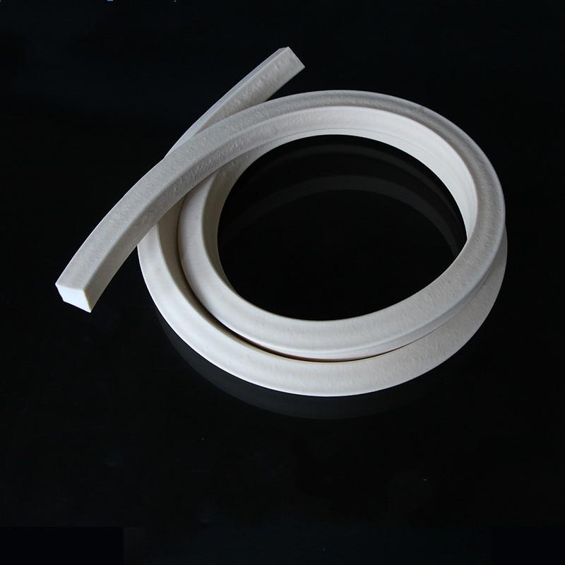Tira de espuma de silicona blanca cuadrada de 3mm 4mm 5mm 6mm 8mm 10mm para sellar rectángulo tira de sellado de espuma de silicona