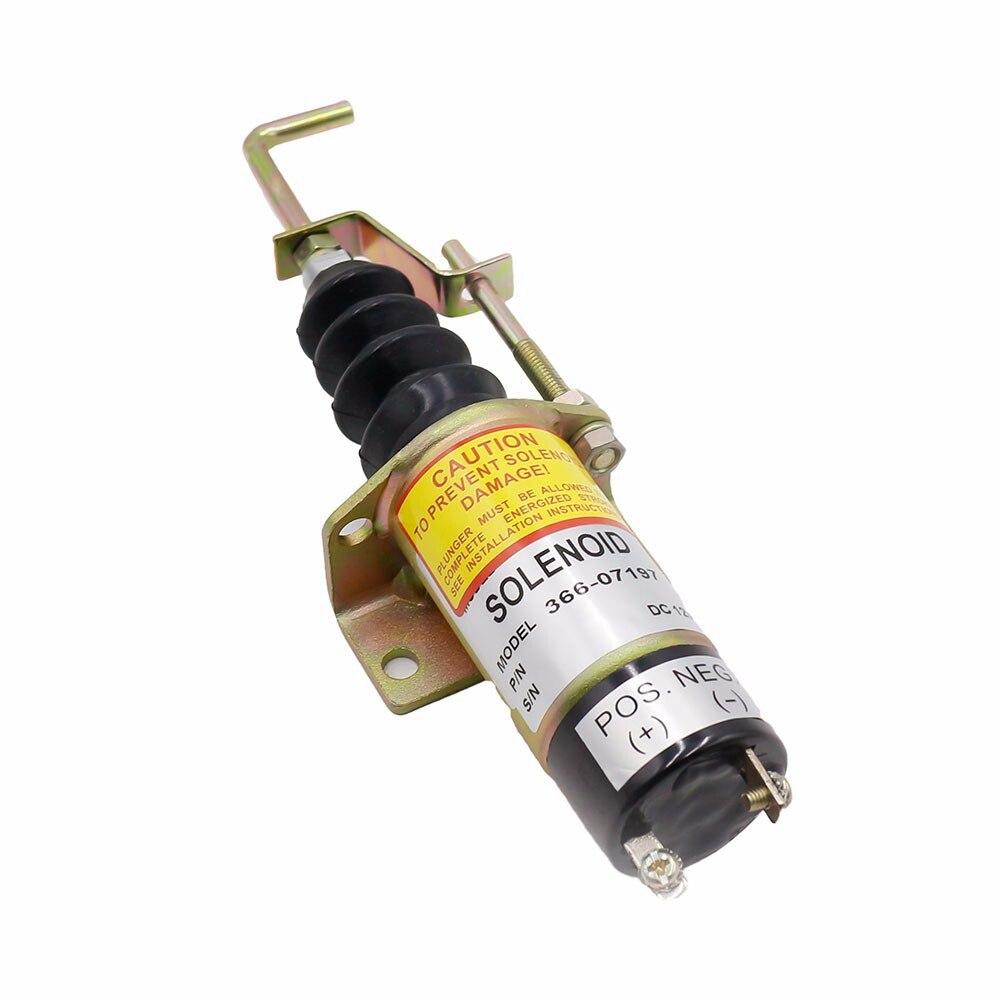 Fuel Shut Off Solenoid valve 1502 12V Fuel Shutdown Shut Off Solenold Lister Petter LPW LPWS LPWT Engine 366-07197