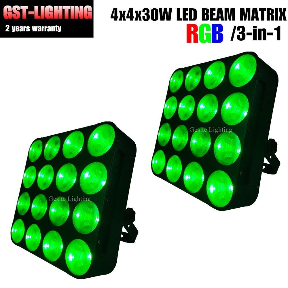 2 шт./лот 16x30 Вт 3 в 1 RGB матричный точечный светодиодный светильник для сцены
