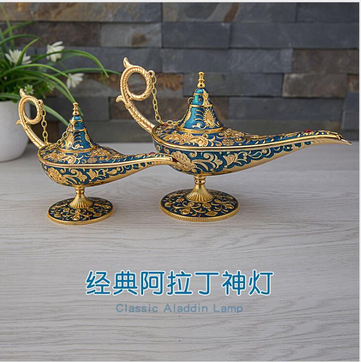 Grote/medium size Tale Aladding Magische Lamp Thee Pot Genie Lamp Vintage Retro Speelgoed Voor Home Decor Ornamenten A38