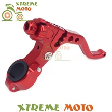 Billet rouge pour Honda CR125R 250R 500R CRF110 150R 150F 230R 250R 250X 250L 450R 450R   Levier à 2 doigts