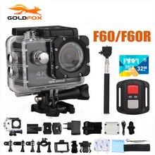 Caméra daction F60/F60R Ultra HD 4K 30FPS 1080P 60FPS WIFI Sport caméra 30M Go étanche Pro casque de vélo caméra denregistrement vidéo