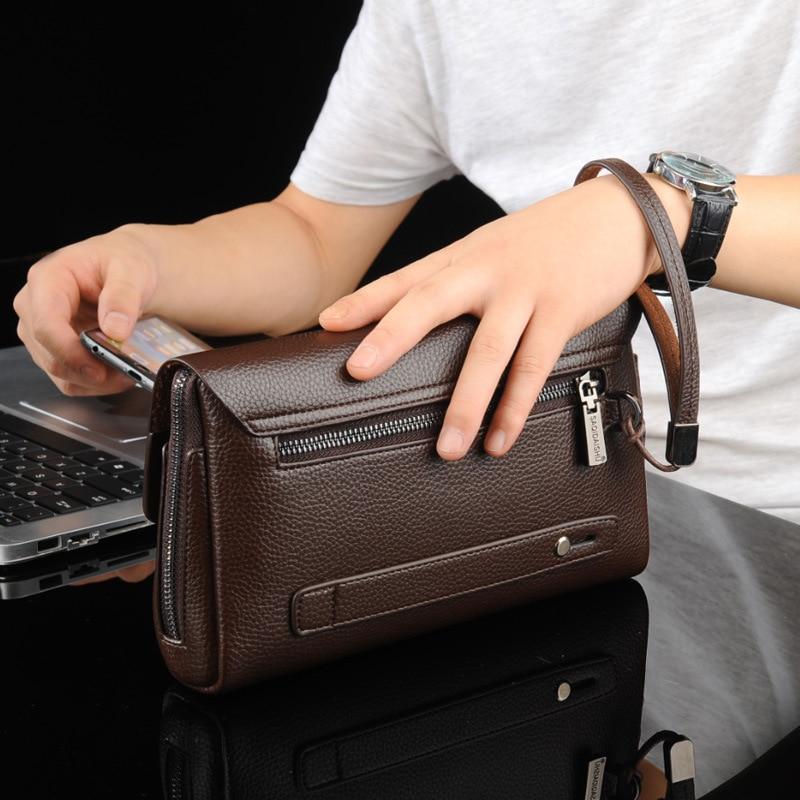 Men's clutch bag password mobile men wallet business carteira masculina anti furto zipper walletanti-theft phone bag male purse