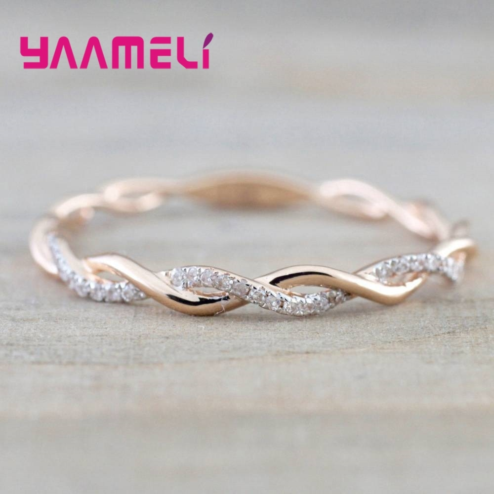 flyleaf 925 sterling silver rings for women cubic zirconia rotate creative fashion open ring femme fine jewelry wedding gift New Cubic Zirconia Wedding/Engagement Ring Fashion Female Jewelry Accessory Women 925 Sterling Silver Rings For Party