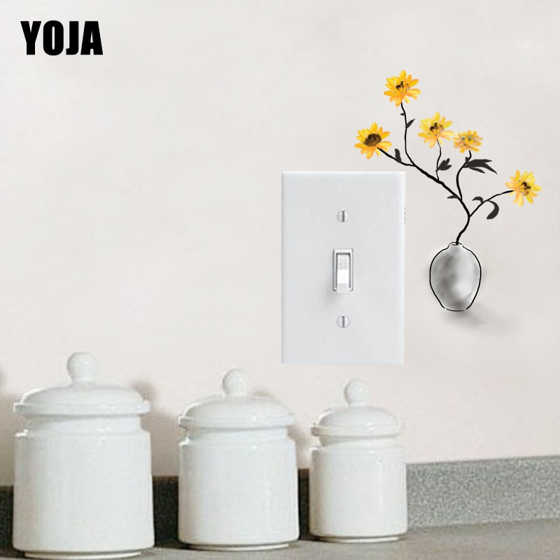 YOJA Holy Smart Yeallow maceta buena calidad interruptor pegatina PVC habitación decoración pared calcomanía 15SS0292