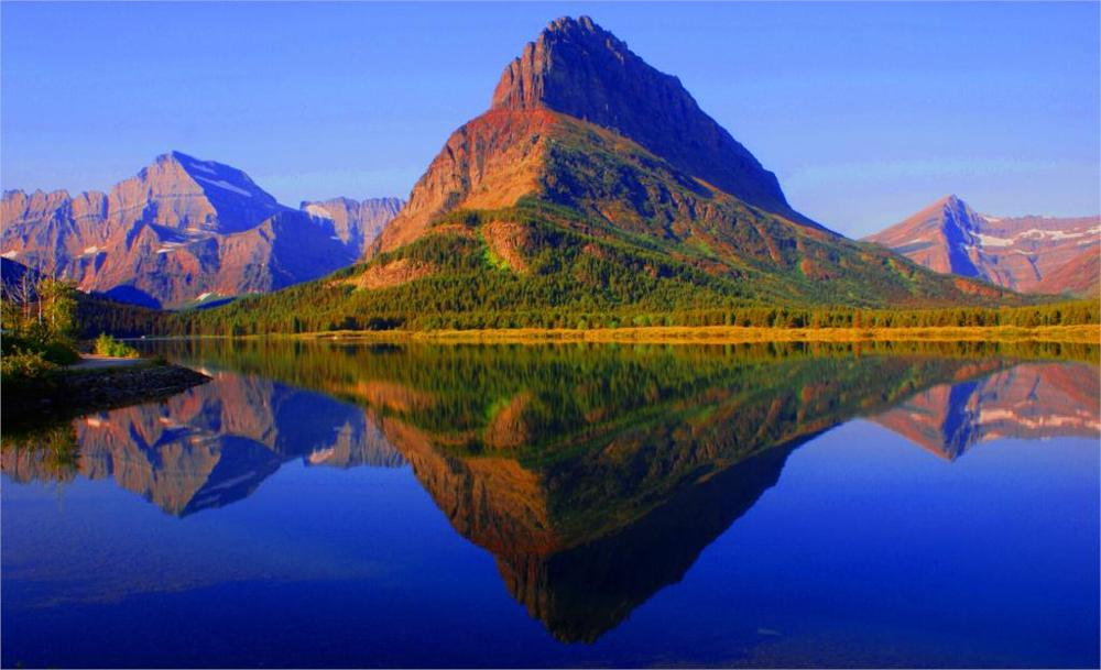 Gran oferta 2017, venta directa, paisaje natural plano, parque nacional Glaciar, Montana, 3 tamaños, decoración del hogar, Impresión de póster en lienzo