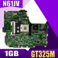 XinKaidi N61JV Laptop motherboard for ASUS N61JV N61J Test original mainboard GT325M 1GB HM55