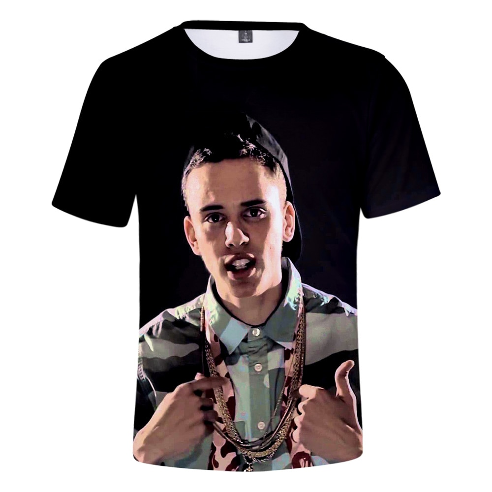 Gran oferta, camiseta 3D con estilo europeo-calle americana hip hop Logic para hombre/mujer, camiseta con impresión con personalidad lógica 3D de Harajuku