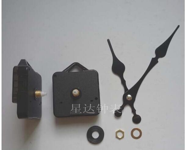 10 conjuntos de reparação diy relógio movimento preto vintage pêssego coração hora minuto mãos