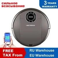 liectroux robot vacuum cleaner zk808 wifi app3000pa suction map navigation smart memoryuv lampwet dry mopbrushless motor