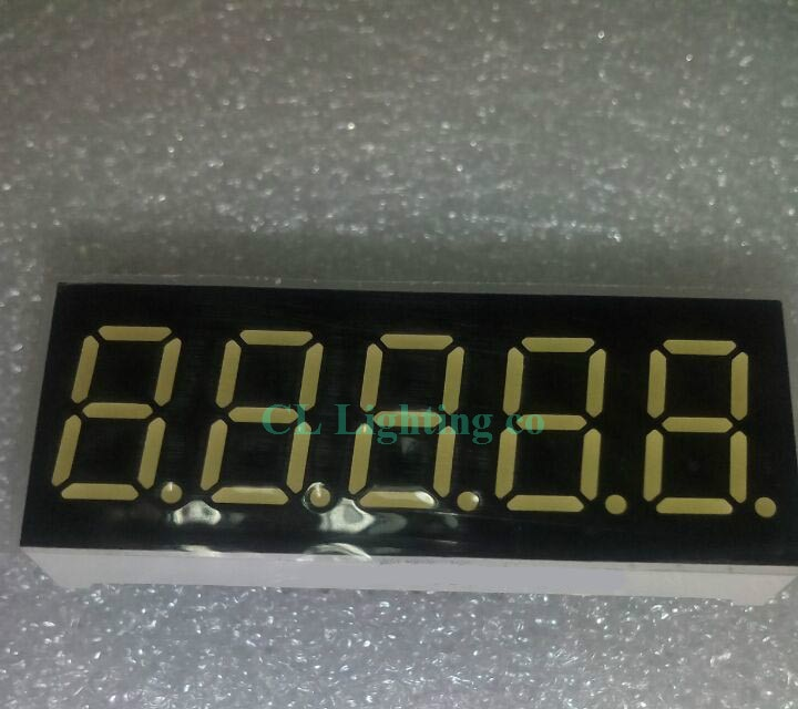 """10 шт. 0,36 дюймов пять полусегментных цифровых пробок белая цифровая трубка общий катод 0,36 """"0.36in светодиодный дисплей"""