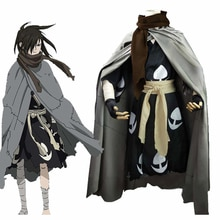 Anime Dororo Cosplay Costume Hyakkimaru Kimono Cosplay Costume Halloween Cloak+Kimono+Scarf Full Set Wigs