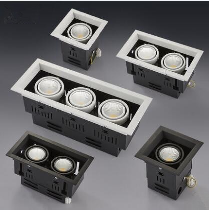 FREE 10W 20W 30W LED COB Spot Led Downlight Dimmable AC85-265V Warm/ Natural/Cold White Recessed LED