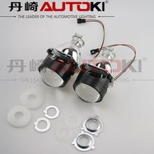 شحن مجاني Autoki 2.5 بوصة H1 Mini HID ثنائية جهاز عرض مزود بإضاءة زينون عدسة LHD RHD ل مصباح السيارة الأمامي H4 H7 H11 9005 9006