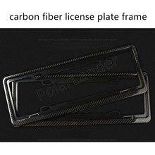 universal the lowest price sale carbon fiber Auto Car License Plate Frame 46.5x17cm 2 pieces high quality