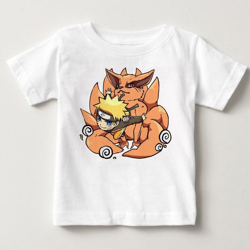 Los niños Ninjia camiseta Anime T camisa Akatsuki Kakashi Gaara Hokage Uchiha Itachi Sasuke Sharingan niños camiseta MJ