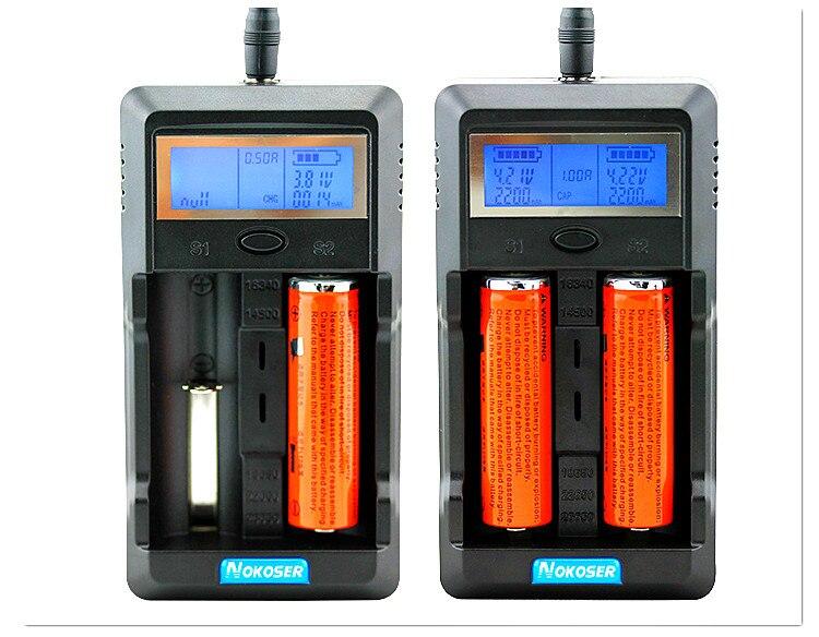 Capacidad de la batería de prueba 18650 cargador de batería pantalla LCD capacidad de la batería 18650 cargador de batería