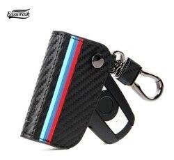 Автомобильный чехол для ключей из углеродного волокна, кожаный чехол для BMW F30 E90 E88 E86 F10 F15 M3 M1 2 3 5 серия X1 X3 X4 X5 X6 Z4 GT